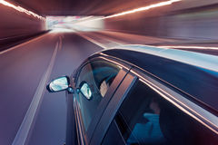 Car driving through a tunnel Royalty Free Stock Images