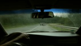 Car driving stock footage