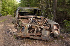 Car Dump in Kirkoe Mosse Royalty Free Stock Photo