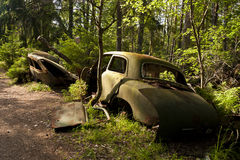 Car Dump in Kirkoe Mosse Stock Images