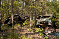 Car Dump in Kirkoe Mosse Stock Photography