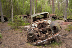 Car Dump in Kirkoe Mosse Royalty Free Stock Photography