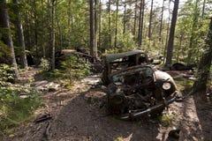 Car Dump in Kirkoe Mosse Royalty Free Stock Photos