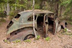 Car Dump in Kirkoe Mosse Stock Photography