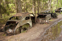 Car Dump in Kirkoe Mosse royalty free stock photo