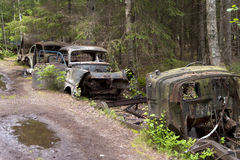 Car Dump in Kirkoe Mosse Royalty Free Stock Image