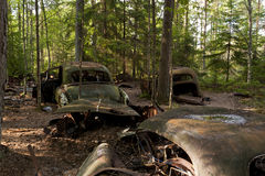 Car Dump in Kirkoe Mosse Stock Photos
