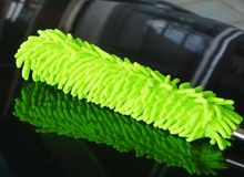 Car dusting. Synthetic fabric for car dusting Stock Photos