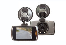Car DVR Front camera car recorder royalty free stock images