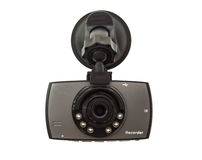 Car DVR Front camera car recorder on white background Royalty Free Stock Photo