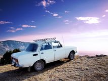 Car at the edge Royalty Free Stock Images