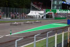 Car effect Monza F1 Grand Prix 2018 royalty free stock photography
