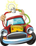 Car electric circuit repair royalty free illustration