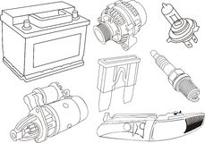 Car electrical parts Stock Image