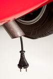 Car with electrical plug Royalty Free Stock Photo