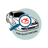 Car electrician logo template Royalty Free Stock Image