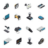 Car Electronics Isometric Icons royalty free illustration