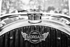 Car Emblem Morgan, F-Series three-wheelers Stock Photos
