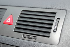 Car emergency button and air conditioning system elements Stock Photo