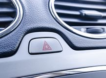 Car emergency light button. The car emergency light button stock image