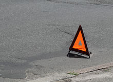Car emergency sign royalty free stock photo