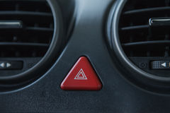 Car emergency stop button and air conditioning hole. Royalty Free Stock Photos