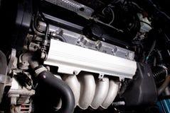 Car engine. 5 cylinder inline aluminium petrol car engine Royalty Free Stock Photo