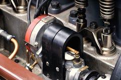 Car engine. Closeup engine of Vintage car stock photography