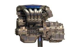 Car engine. New car engine isolated on white background Stock Images