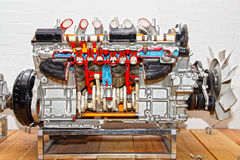 Car engine. Cross section of a car engine Stock Images
