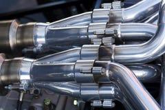 Car engine. A close-up of a car engine Stock Photography