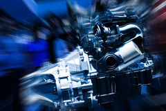 Car Engine. Unleashed Power stock images