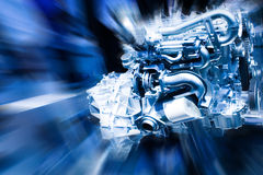 Car Engine. Unleashed Power royalty free stock photo