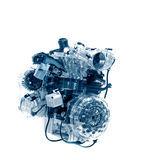 Car engine. / on white isolated Royalty Free Stock Photo