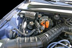 Car Engine. And parts royalty free stock photos