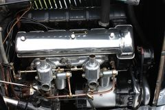 Car Engine. The Engine of a Vintage Motor Car royalty free stock image