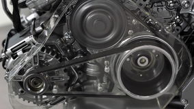 Car engine belt and gears stock footage