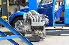 Old car engine Stock Photos