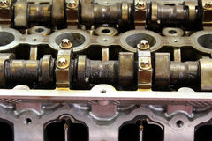 Car engine camshaft Stock Photography