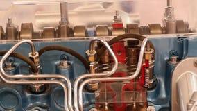 Car engine camshaft stock video footage