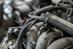 Car engine close up Royalty Free Stock Photography