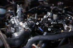 Car engine, closeup. Car engine, diagnostics, close up stock photos
