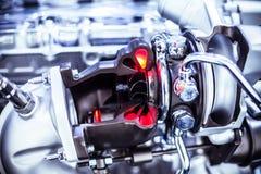 Car Engine closeup Stock Photo