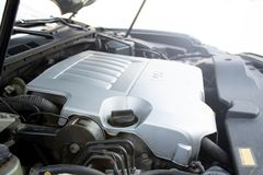 Car engine compartment. Close up royalty free stock images
