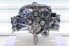 Car engine. Concept of modern automobile motor on light background Royalty Free Stock Image