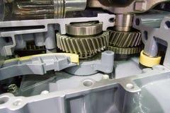 Car engine consist of gear , bearing , shaft . Car engine consist of gear , bearing , shaft , piston for automotive royalty free stock image