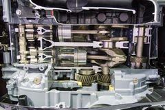 Car engine consist of gear , bearing , shaft , piston. For automotive royalty free stock photos