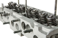 Car engine cylinder head diagonal view Royalty Free Stock Image