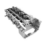 Car engine cylinder head isolated Stock Photo