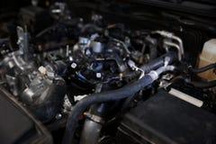 Car engine, closeup. Car engine, diagnostics, close up royalty free stock photo